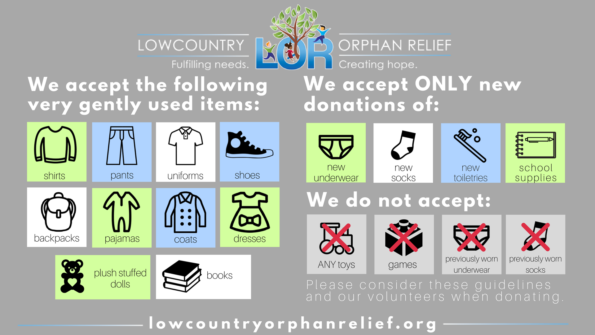LOR Item Donations (1)