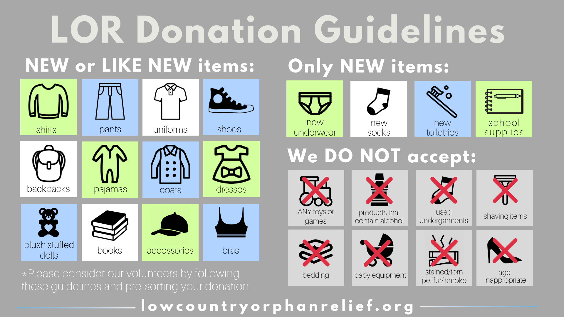 LOR Item Donations NEW